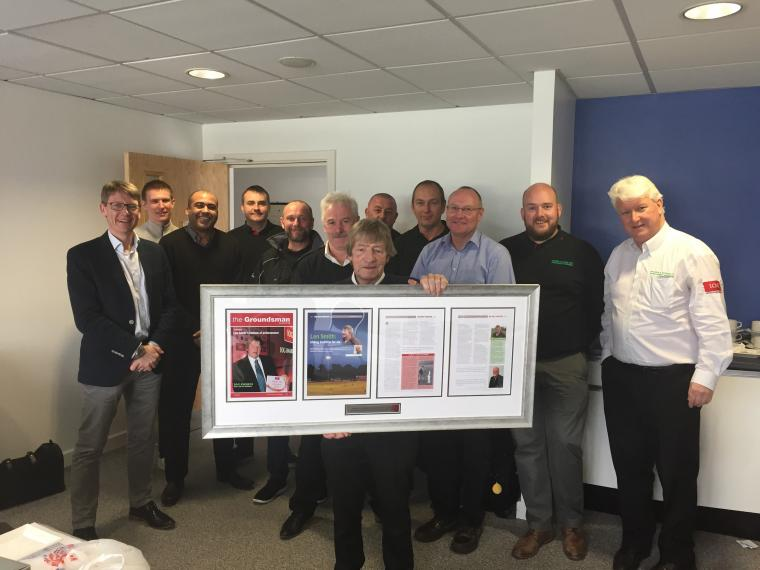 Long-standing IOG stalwart Len Smith has retired after a 57-year career in groundsmanship